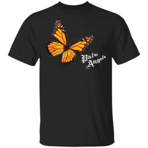 Butterfly Palm Angels Shirt Butterfly Black T Shirts